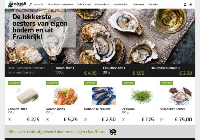 Acadia Webwinkel software - Koninklijke Schmidt Zeevis Rotterdam